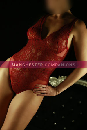 Petra looking seductive wearing red underwear